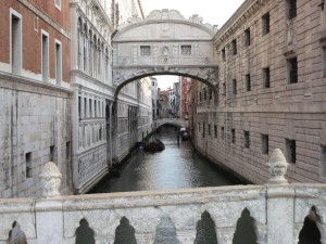 Venice - Bridge of Sighs - view