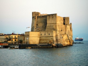 Naples - Castel del Ovo - sea view