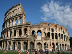 Rome - Colosseum - front view