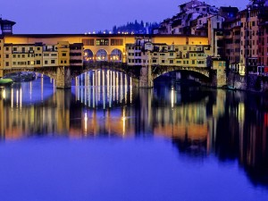 Florence - Ponte vecchio - night view