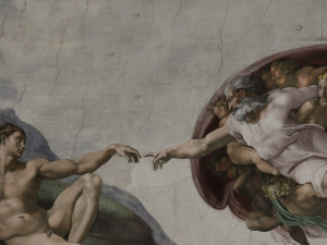 Rome - Sistine Chapel - the creation of Adam - Particular