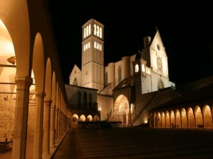 Assisi - Basilica St Francis - Night view