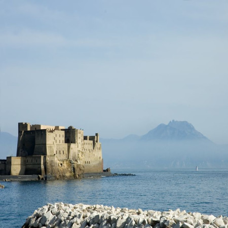 Naples - Castel Dell'Ovo - Vesuvius View