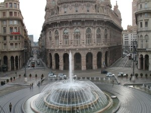 Genoa - Piazza De Ferrari - Fountain