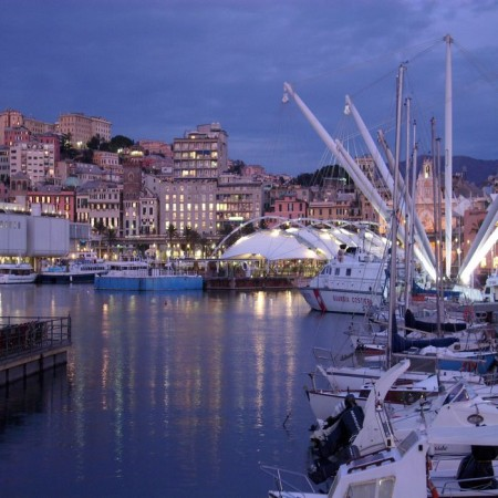 Genoa - Porto Antico - Night View